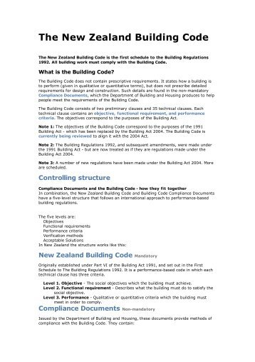 The New Zealand Building Code - Spatial Design@Massey