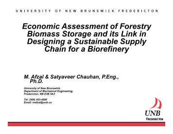 Economic Assessment of Forestry Biomass Storage and its ... - VCO