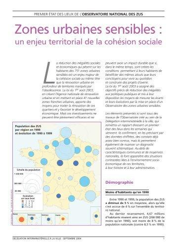 Zones urbaines sensibles : un enjeu territorial de la cohésion sociale