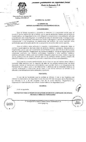 GERENTE ~. - Página Principal - Instituto Guatemalteco de ...