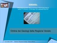 Allegato Presentazione - Ordine dei Geologi Regione del Veneto
