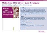Mediadaten 2013: körper – tanz – bewegung - reinhardt-journals.de