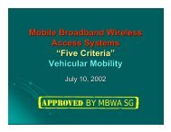 Mobile Broadband Wireless Access Systems - LMSC, LAN/MAN ...