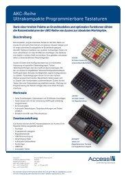 AKC-Reihe Ultrakompakte programmierbare Tastaturen - Access IS