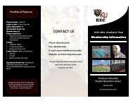 2013-2014 Membership Brochure - Kutztown University