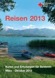 Reisekatalog 2013 - DRK-Kreisverband Mannheim e.V.