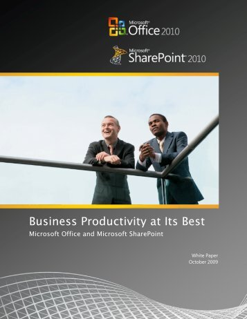 Business Productivity at Its Best: Microsoft Office and ... - Socius