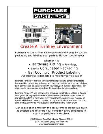Assembly Parts - Purchase Partners