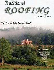 Traditional Roofing Magazine Issue #6 - front cover