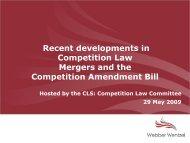 Intermediate mergers - Cape Law Society