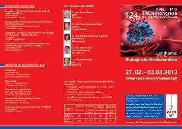 Flyer download - Zentralverband der Ärzte für Naturheilverfahren