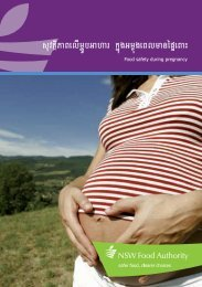 Food safety during pregnancy (Khmer) - NSW Food Authority