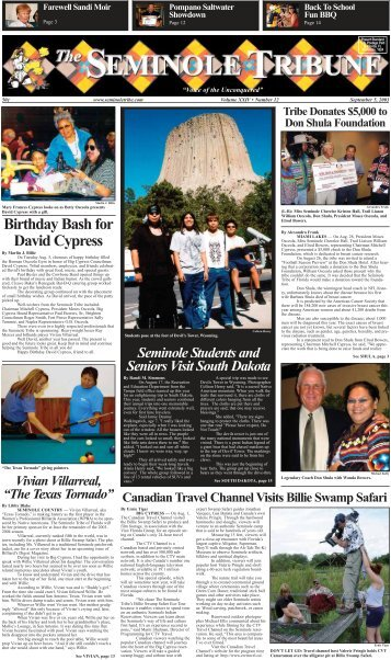Birthday Bash for David Cypress - Seminole Tribe of Florida
