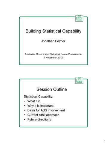 Building Statistical Capability - National Statistical Service