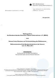 Stellungnahme zum Entwurf eines Gesetzes zur Fortentwicklung ...