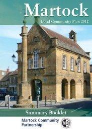 Martock's Local Community Plan 2012 - Martock Online
