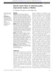 Optimal search filters for detecting quality improvement studies in ...