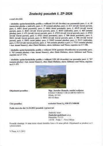 Znalecký posudek č. ZP-2826 - OKdrazby.cz