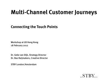 Multichannel Customer Journeys - STBY