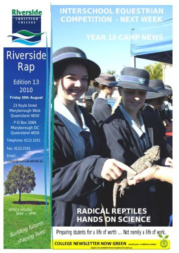 Riverside Rap - Riverside Christian College