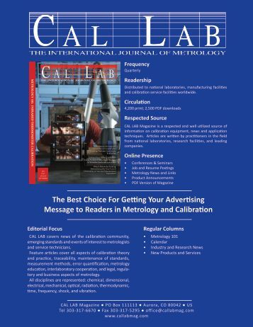 Media Kit - Cal Lab Magazine