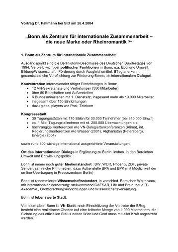 Nachlese - SID Chapter Bonn