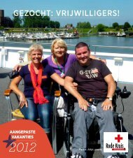 Gezocht: vrijwilliGers! - Rode Kruis-Vlaanderen
