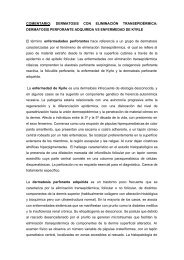 DERMATOSIS CON ELIMINACIÓN TRANSEPIDÉRMICA