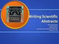 Writing Scientific Abstracts