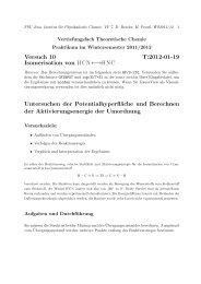 Versuch 10 T:2012-01-19 Isomerisation von HCN←→HNC ...