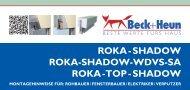 ROKA - SHADOW ROKA-SHADOW-WDVS-SA ROKA ... - Beck+Heun