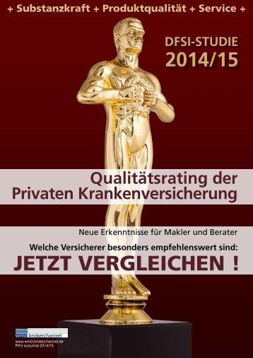 DFSI-Studie 2014/15: Qualitätsrating der Privaten Krankenversicherung