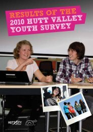 results of the 2010 hutt valley youth survey - Hutt City Council
