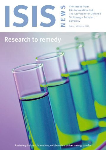 Research to remedy - Isis Innovation
