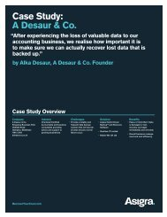 Case Study: A Desaur & Co. - Asigra