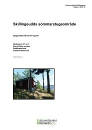 Skillingeudds sommarstugeområde - Stiftelsen Kulturmiljövård