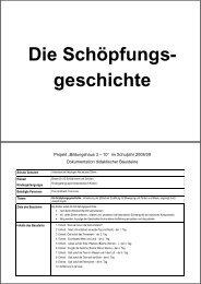 Die Schöpfungs- geschichte - Uhlandschule Metzingen ...