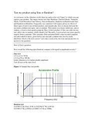 Test my product using Sine or Random - Vibration Research ...
