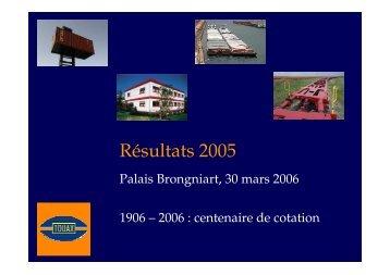 Réunion SFAF du 30 mars 2006 sur les comptes au ... - touax group