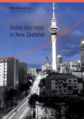 Doing business in New Zealand - RSM International