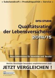 DFSI-STUDIE 2014/15: Qualitätsrating der Lebensversicherer