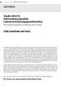 DFSI-STUDIE 2014/15: Qualitätsrating der Lebensversicherer - Seite 2