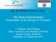Powerpoint - Australia and New Zealand School of Government