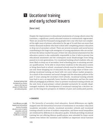 early school leavers Early school leavers: understanding the lived reality of student disengagement from secondary school final report prepared by community health systems resource group.