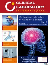 CSF biochemical markers for Alzheimer's disease Pg.17