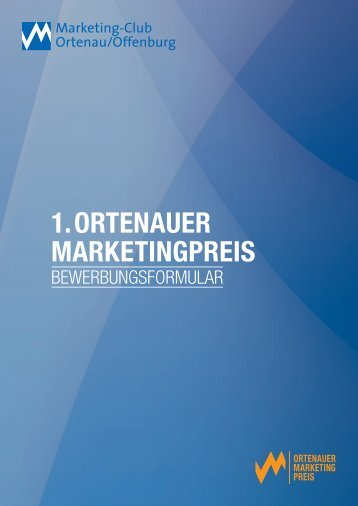1. ortenauer marketingpreis - Marketing-Club Ortenau/Offenburg