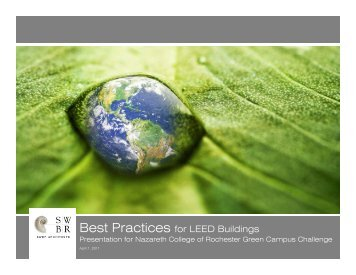 Best Practices for LEED Buildings - Nazareth College