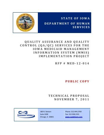 CSG Government Solutions - Iowa Medicaid Enterprise