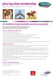 phar lap club membership - Melbourne Cup