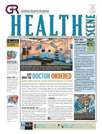 Health Scene - Summer 2007 - Grande Ronde Hospital